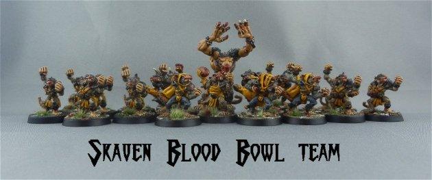 Skaven Blood Bowl team 1