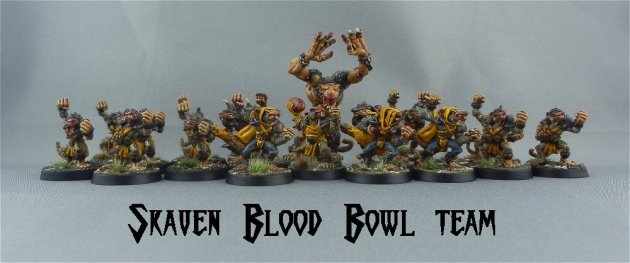 Skaven Blood Bowl team 1