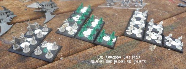 Dark Eldar - Epic Armageddon Warriors with Dracons and Sybarites