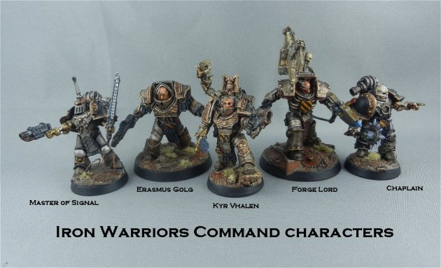Iron Warriors Command Characters 1