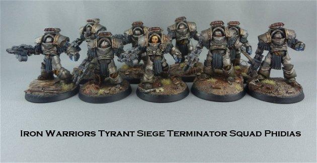 Iron Warriors Tyrant Siege Terminator Squad Phidias